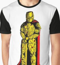Decorated Golden Knight Graphic T-Shirt