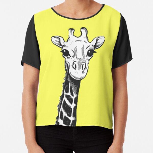 Giraffe t-shirt cute sabana africa Chiffon Top