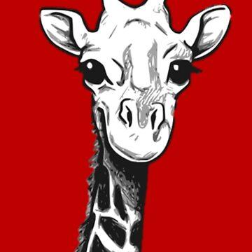 Giraffe t-shirt cute sabana africa by Aldereva