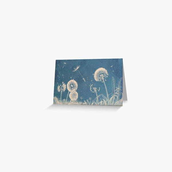 Dandelion Clocks Greeting Card