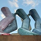 Legs Walking by Kenneth Armitage - Park Row, Leeds by Graham Geldard