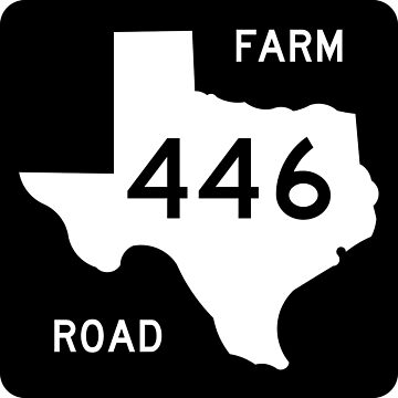 Texas Farm-to-Market Road FM 446 | United States Highway Shield Sign by djakri