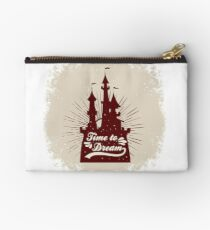 poster with Castle and quote. Time to dream. For T-shirt print Studio Pouch