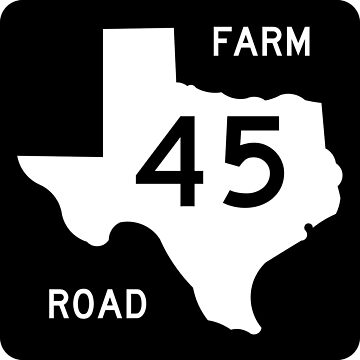 Texas Farm-to-Market Road FM 45 | United States Highway Shield Sign by djakri
