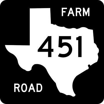 Texas Farm-to-Market Road FM 451 | United States Highway Shield Sign by djakri