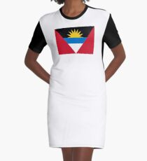 Flag of Antigua and Barbuda Graphic T-Shirt Dress