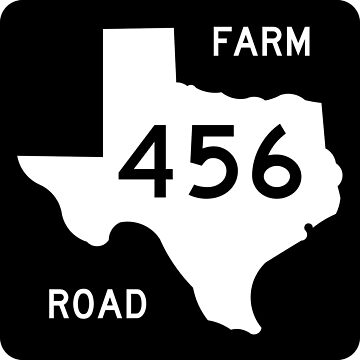 Texas Farm-to-Market Road FM 456 | United States Highway Shield Sign by djakri