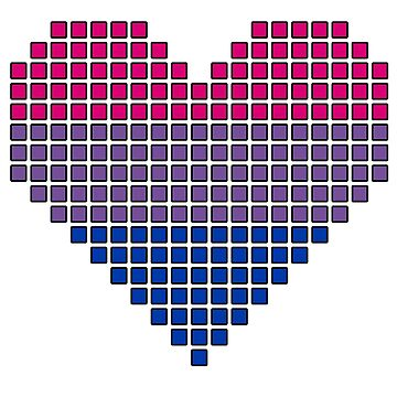 Bi pixel heart by kittykarnstein