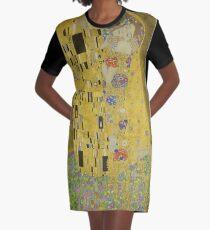 The Kiss by Gustav Klimt Graphic T-Shirt Dress