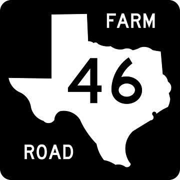 Texas Farm-to-Market Road FM 46 | United States Highway Shield Sign by djakri