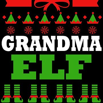 Grandma Matching Family Christmas Elf Funny by kh123856