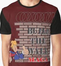 TRUMP Build the Wall MAGA  Graphic T-Shirt
