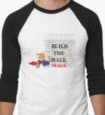 TRUMP Build the Wall MAGA  Men's Baseball ¾ T-Shirt