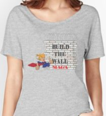 TRUMP Build the Wall MAGA  Women's Relaxed Fit T-Shirt