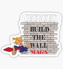 TRUMP Build the Wall MAGA  Sticker