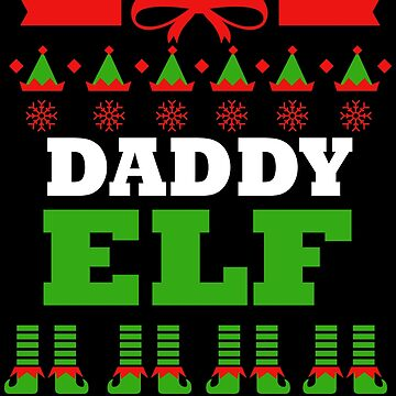 Dad Matching Family Christmas Elf Funny by kh123856
