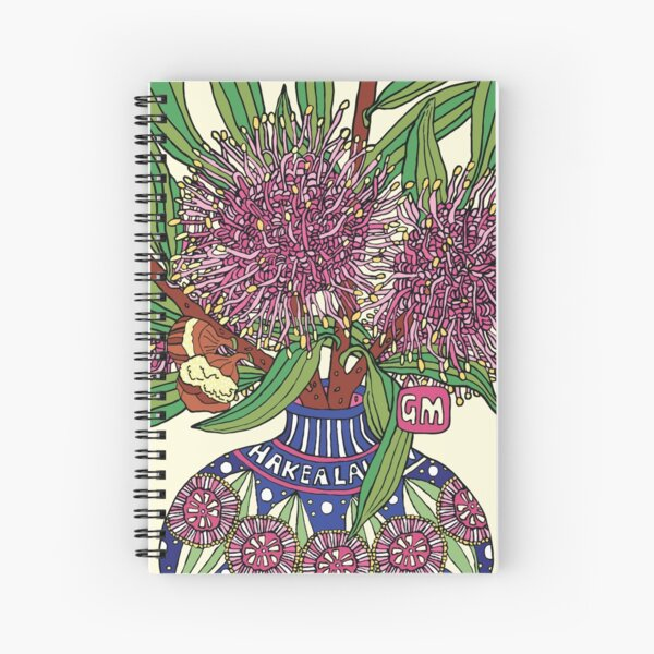 Bud Vase of Hakea Laurina Spiral Notebook