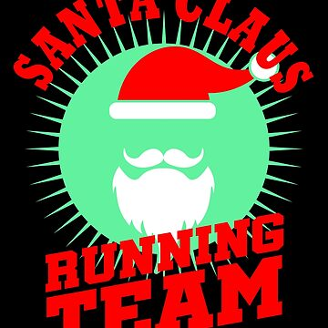 Santa Claus Running Team Christmas Runner Race Day Marathon by kh123856