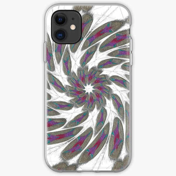 Golden Feathers in the Wind Fall Into Winter Collection at Green Bee Mee iPhone Soft Case