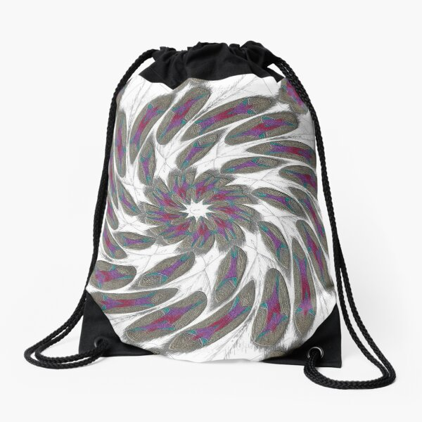 Golden Feathers in the Wind Fall Into Winter Collection at Green Bee Mee Drawstring Bag