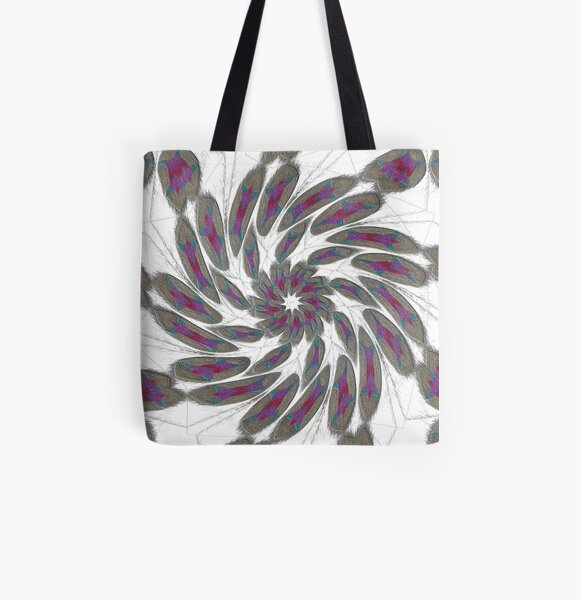 Golden Feathers in the Wind Fall Into Winter Collection at Green Bee Mee All Over Print Tote Bag