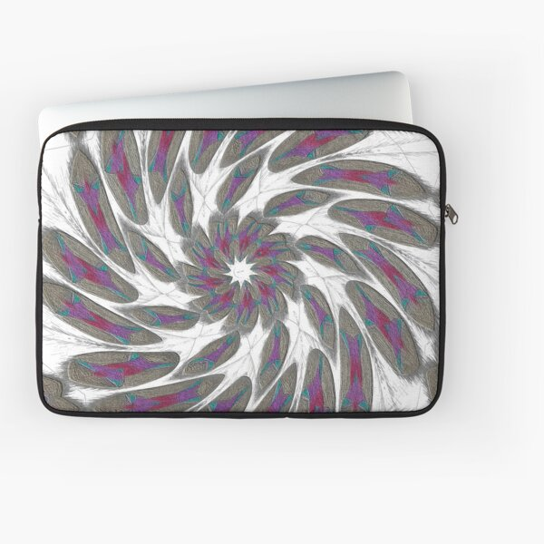 Golden Feathers in the Wind Fall Into Winter Collection at Green Bee Mee Laptop Sleeve