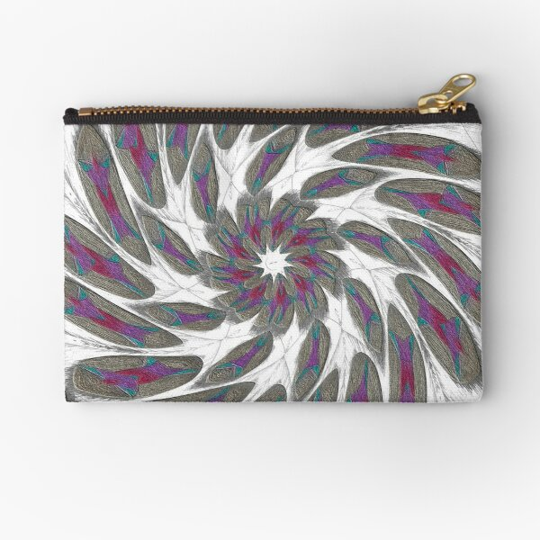 Golden Feathers in the Wind Fall Into Winter Collection at Green Bee Mee Zipper Pouch