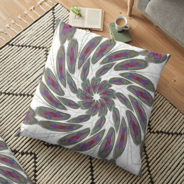 Golden Feathers in the Wind Fall Into Winter Collection at Green Bee Mee Floor Pillow
