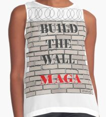 Build the Wall MAGA  Contrast Tank