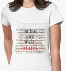 Build the Wall MAGA  Women's Fitted T-Shirt
