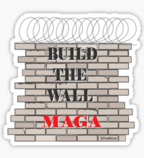 Build the Wall MAGA  Sticker