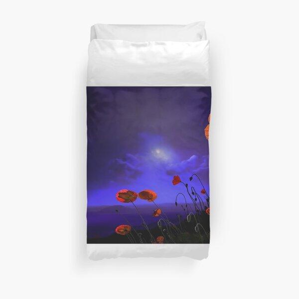 Poppies Blue Duvet Cover