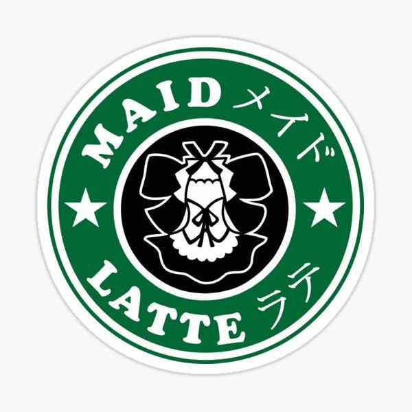 Maid Latte Sticker