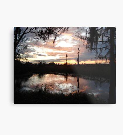 Sunset on Econfina 12-09 Metal Print