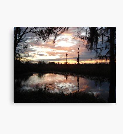 Sunset on Econfina 12-09 Canvas Print