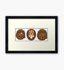 Cute Whimsical Hedgehog Pictures Framed Print