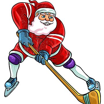 Santa hockey by 8fiveone4