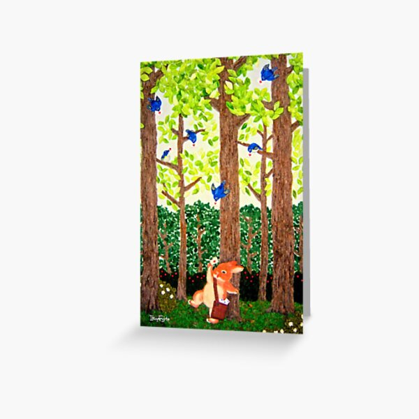 spring has come (2011) Rabbit / Bunny Art Greeting Card
