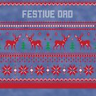 Festive Dad Christmas Sweater by CreatedTees