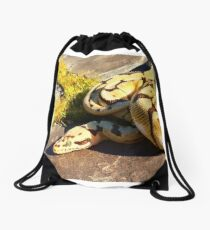 Bumblebee ball python  Drawstring Bag