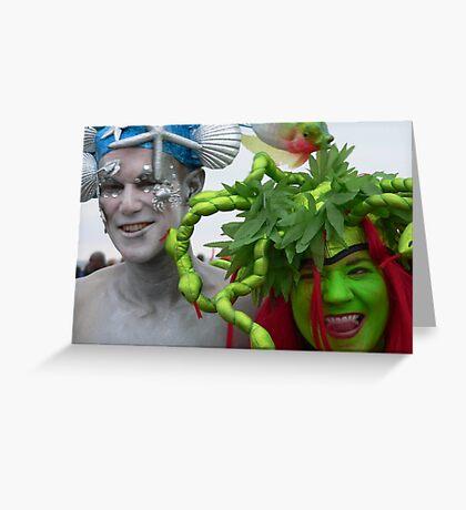 mermaids at Coney Island Greeting Card