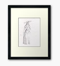 Victorian Woman Framed Print