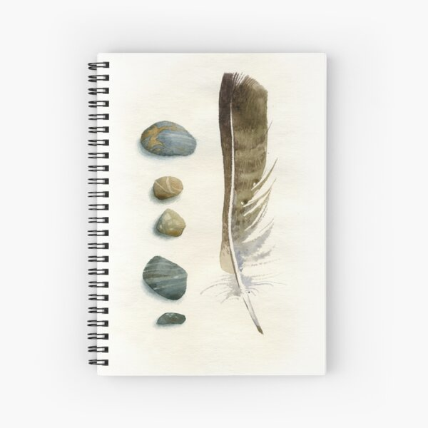 Stones and feather Spiral Notebook