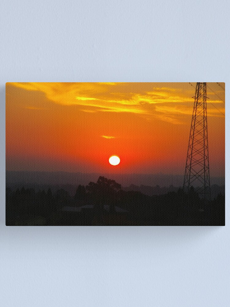 Alternate view of White-Hot Sun In A Blood-Red Sky Canvas Print