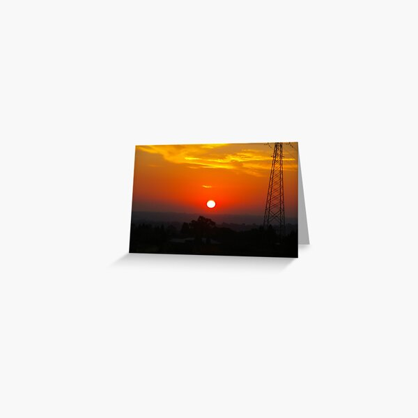 White-Hot Sun In A Blood-Red Sky Greeting Card