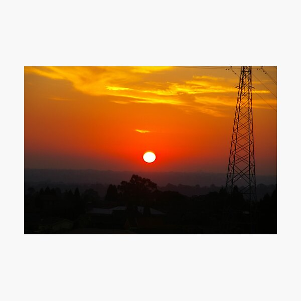 White-Hot Sun In A Blood-Red Sky Photographic Print