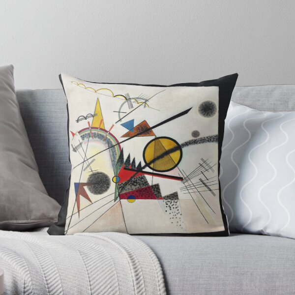 Kandinsky - In the Black Square Throw Pillow