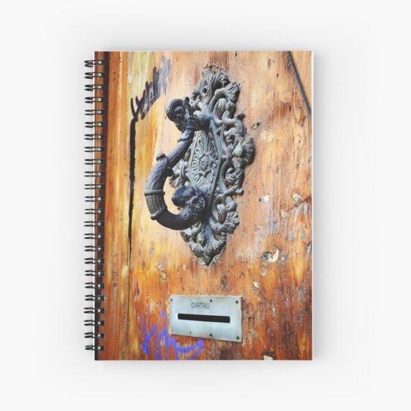 Door Knocker at Barri Gotic Spiral Notebook