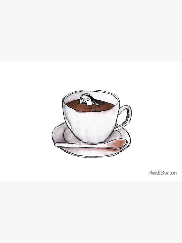 Caffeine addict tea and coffee cup illustration by HeidiBurton