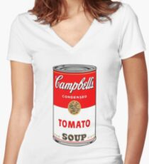 tomato cup Fitted V-Neck T-Shirt